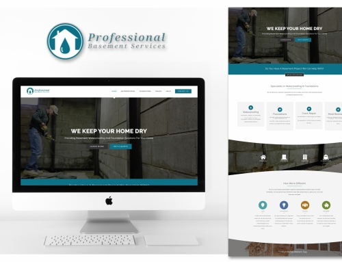 Basement Waterproofing Web Design